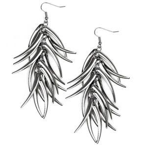 Tasseled Talons - Black earrings